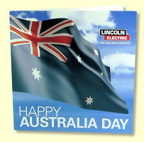 Lincoln Australia Day Greeting Card - front