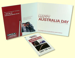 Lincoln Australia Day Greeting Card - inside