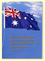 Australia Day Greeting Card - front