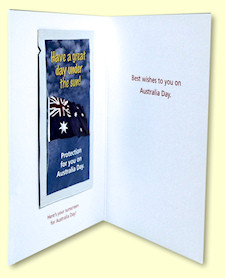 Australia Day Greeting Card - inside