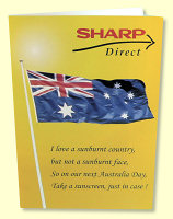 Sharp Australia Day Greeting Card - front