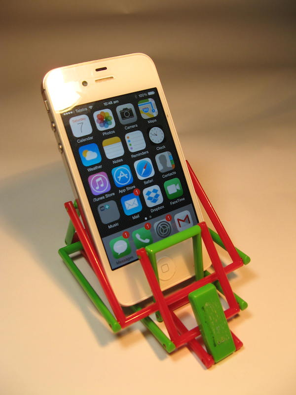 Phone in red & Green