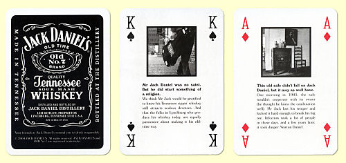 Jack Daniel's Playing Card Brochure